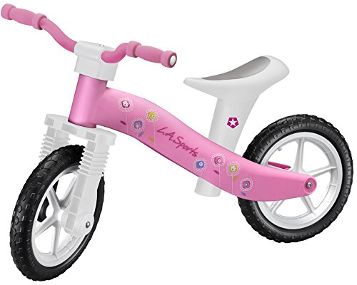 Lightweight Girls Pink Childrens Kids Balance Bike