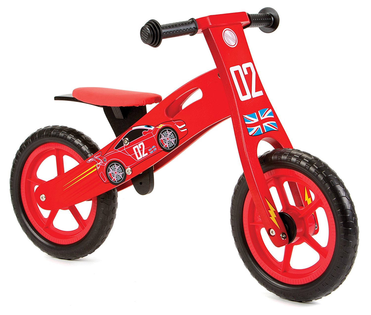 Nicko Racing Cars Kids Children's Wooden Balance Bike